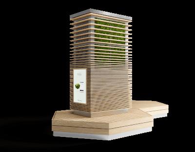 grüne sitzbank